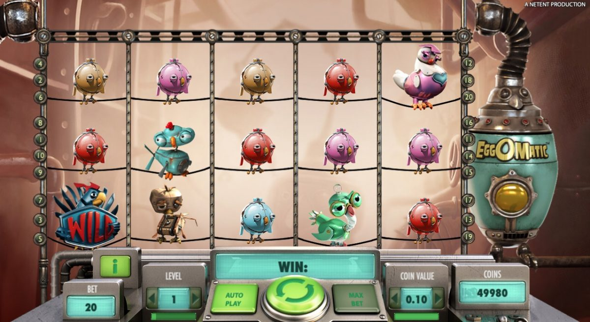 Eggomatic: Netent Online Casino Slot