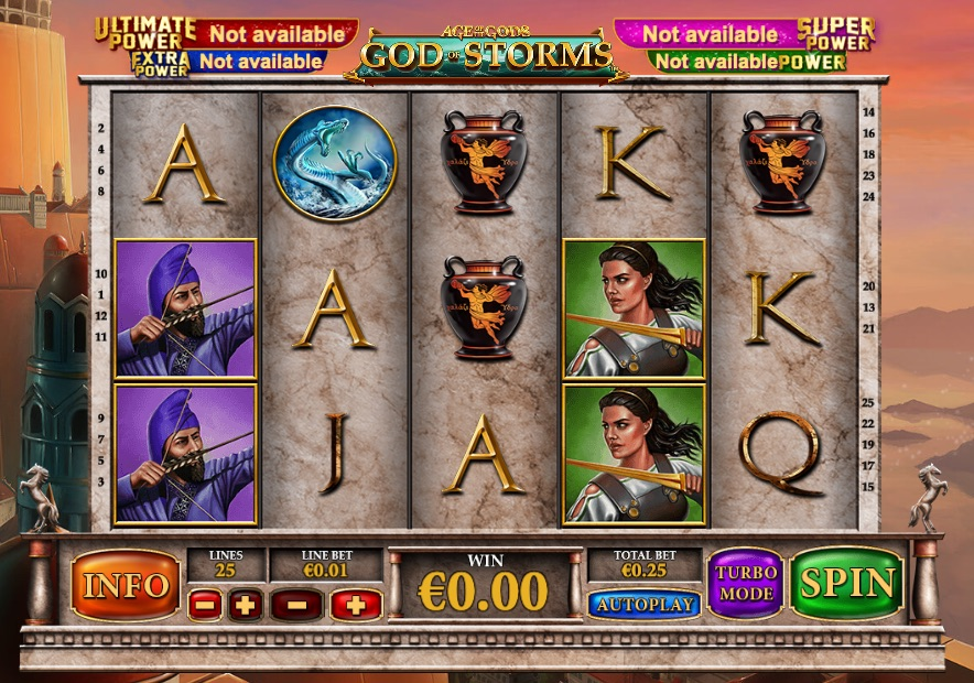 New Slot God Of Storms Released by Playtech